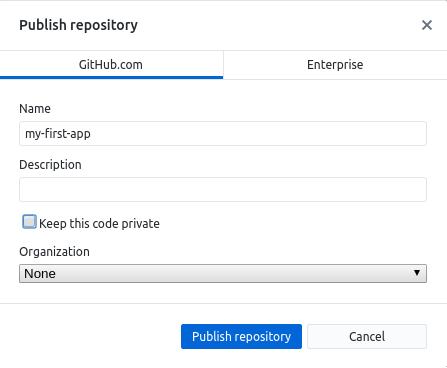 Github Desktop Publish Repo