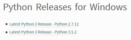 Select python3 releases