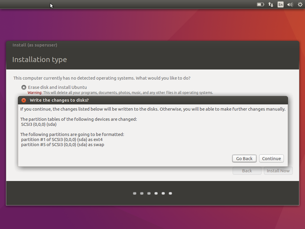 Ubuntu Disk Verification