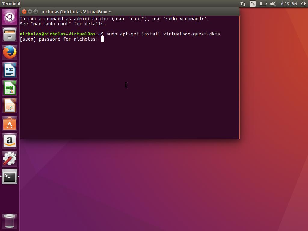 Ubuntu VirtualBox Guest DKMS