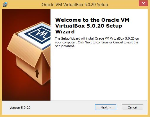 VirtualBox Installation First Step
