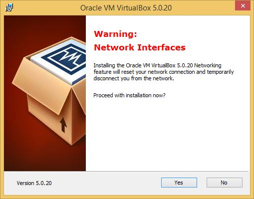 VirtualBox Network Interfaces Warning