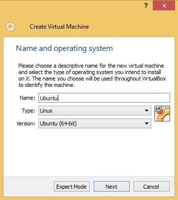 VirtualBox Naming